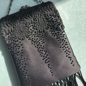 Talbots Bags - Talbots Beaded & Embroidered Clutch Purse